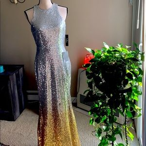 NWT Gorgeous Lulus Sequin Gown